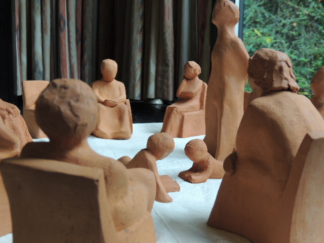 Ulriche O'Flaherty's sculpture of a meeting